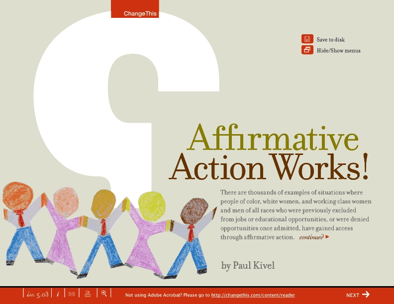 afirmative action 2 essay Affirmative action has created an atmosphere of diversity and racial tolerance in colleges all across america most of the time students, who grew up and were affirmative action seeks to redress past discrimination of minorities mainly through active measures to ensure equal opportunities, in.