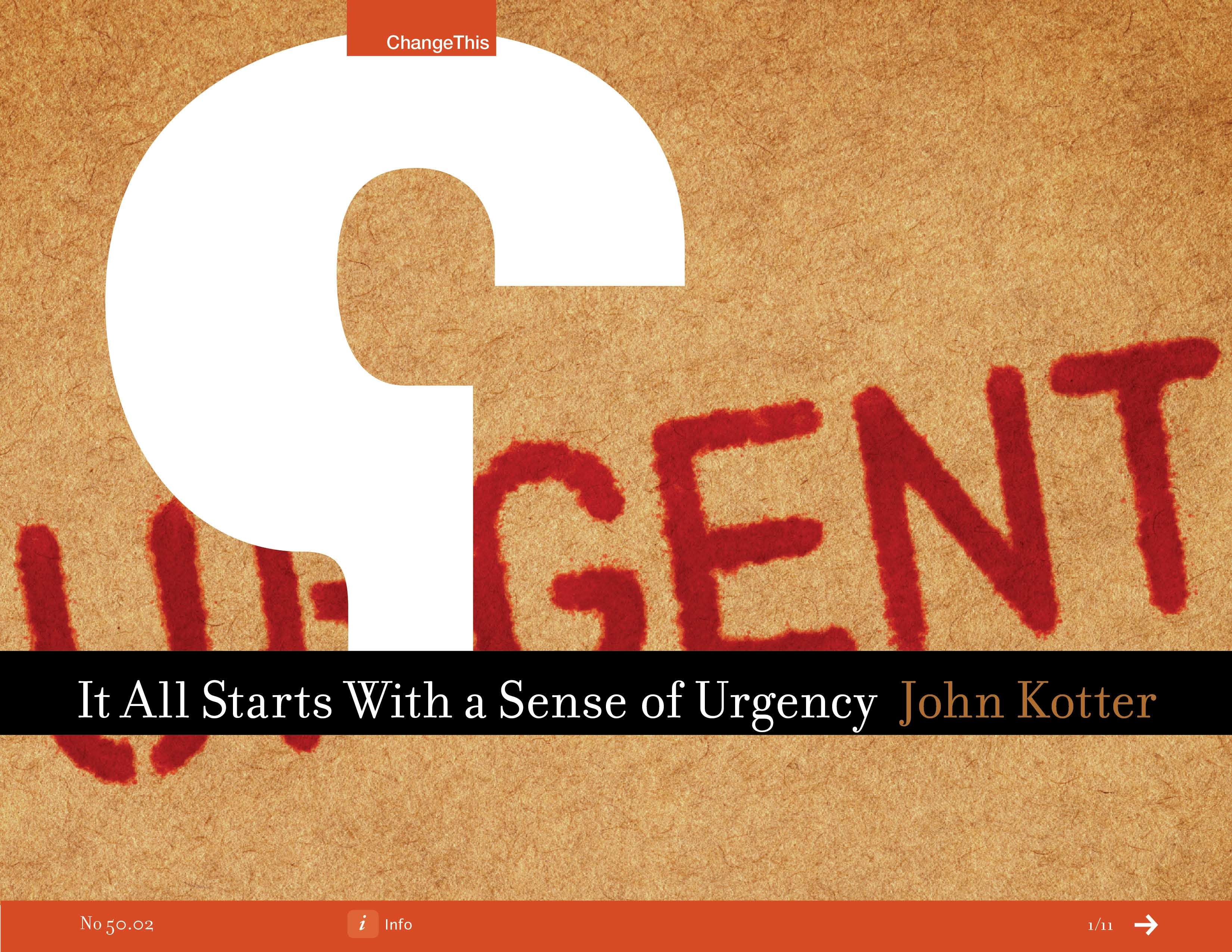 it all starts with a sense of urgency by john p kotter 50 02