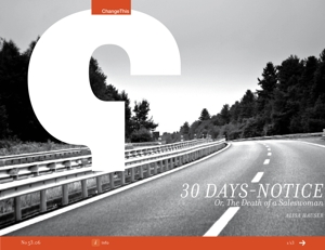 30 Days-Notice: Or, Death of a Saleswoman